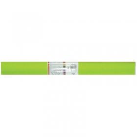 Бумага крепированная Werola, 50*250см, 32г/м2, растяжение 55%, зеленое яблоко, в рулоне 12061-110