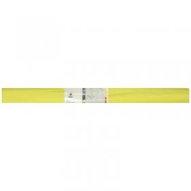 Бумага крепированная Werola, 50*250см, 32г/м2, растяжение 55%, лимонная, в рулоне 12061-102