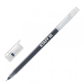 Ручка гелевая STAFF, ЧЕРНАЯ, длина письма 1000м, игольчатый узел 0,5мм, линия 0,35мм, 143673