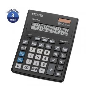 Калькулятор Citizen Business Line CDB, 16 разр., двойное питание, 157*200*35мм, CDB1601-BK