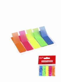 Закладки пластиковые (ЗС-1877) 45х12мм, 5 цветов по 20 листов