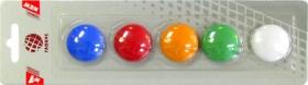 Набор магнитов цветных 30 мм, 5 шт. МЦ30