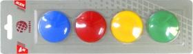 Набор магнитов цветных 40 мм, 4 шт. МЦ40