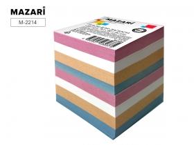 Блок для записи,цветной,90х90х90мм,непроклеенный,60 г/м2 M-2214