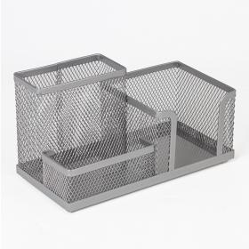 Подставка-органайзер BRAUBERG металлическая, 3 секции, 102х186х95мм, серебр, 231987