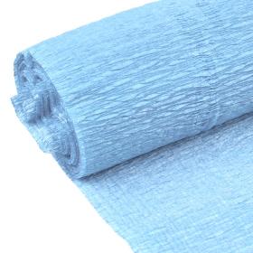 Бумага гофрированная поделочная 50см*250см голубой DV-12563-25