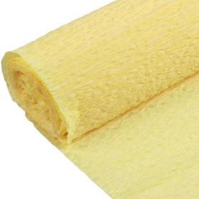Бумага гофрированная поделочная 50см*250см лимон DV-12563-30