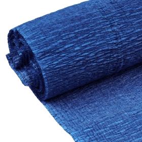 Бумага гофрированная поделочная 50см*250см синяя пыль DV-12563-27