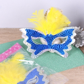 Набор масок карнавальных (с перьями)  6шт DV-3106