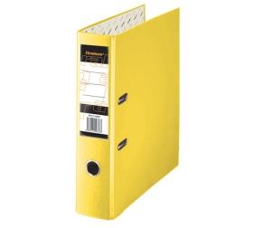 Папка регистратор А4, ПВХ, 50 мм. желтая c уголком Tiralana Flax Vinil,  RMP50-416YW