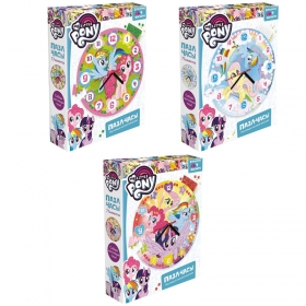 "Пазл-часы 77 эл. Origami ""My Little Pony"", 4 магнита, стразы, в ассортименте 5083"