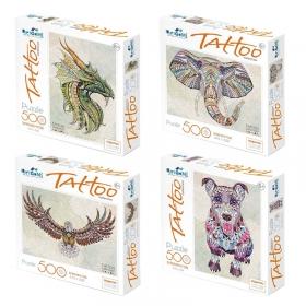"Пазл  500 эл. Origami ""Арт-терапия. Tatoo"", + подарок Пазл 100 эл., ассорти 5371"