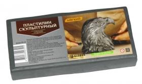 Пластилин скульптурный цвет серый, мягкий ПЛС-05