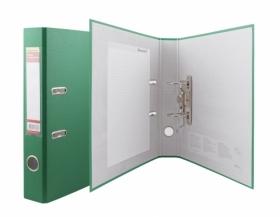 Папка регистратор А4, ПВХ, 50 мм. зеленый без окантовки, карман на корешке,355020-03