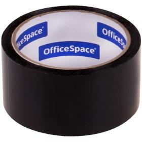 Клейкая лента упаковочная OfficeSpace, 48мм*40м, 45мкм, черная, ШК КЛ_18878