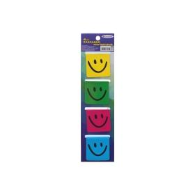 """Закладки магнитные """"Darvish""""  (4шт) с европодвесом """"улыбка"""" DV-6702-4"""