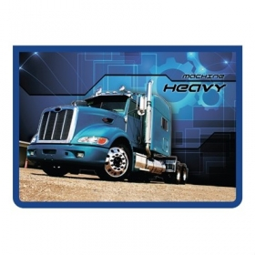 Папка для тетрадей А4 на на молнии Синий грузовик ПМ-А4-29 Синий грузовик