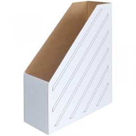 Накопитель-лоток архивный из микрогофрокартона OfficeSpace, 100мм, белый, до 900л. 225421