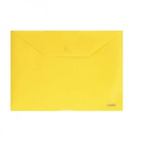 """Папка-конверт A5 с кнопкой прозрачная желтая 0.18 мм """"Proff"""" CH5209/18-TF-02"""