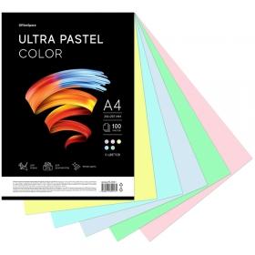 """Бумага цветная OfficeSpace """"Ultra Pastel Color"""", A4, 80 г/м², 100л., (5 цветов) PC_34017"""