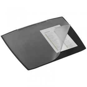"""Настольное покрытие Durable """"Artwork"""" 52*65см, с прозрачным верхним листом, черное 7201-01"""