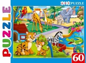Artpuzzle. ПАЗЛЫ 60 элементов. Большой зоопарк. Арт. ПА-0588