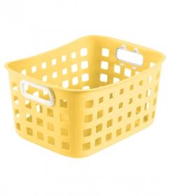 Корзинка для хранения универсальная 25х18х12 см, жёлтая Pastel КР304