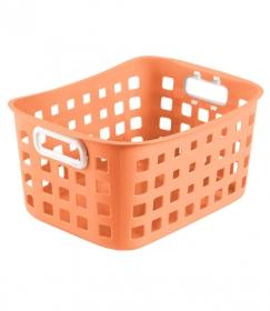 Корзинка для хранения универсальная 25х18х12 см, оранжевая Pastel КР305