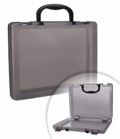 Портфель-кейс тонированный серый КС16