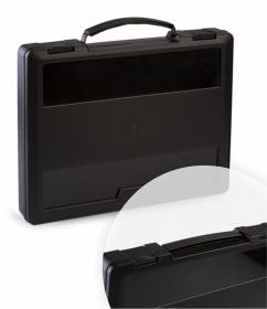Портфель с выдвижной ручкой чёрный ПФ21