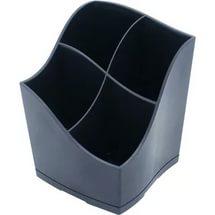 """Подставка для пишущих принадлежностей 4 отделения, черная, """"Proff"""", в картонной коробке PHP-025006"""