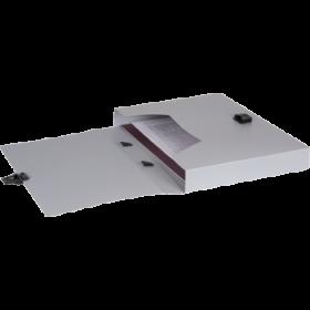 """Папка-портфель A4 40 мм с замком серая 0.70 мм """"Proff. Standard"""" PF316-TF-05"""