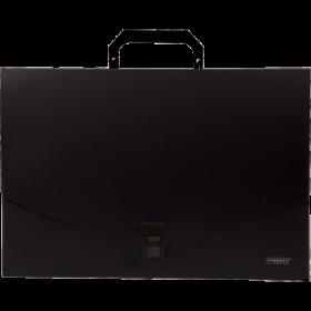 """Папка-портфель A4 40 мм с замком черная 0.70 мм """"Proff. Standard"""" PF316-TF-06"""