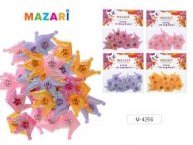 Набор для творчества КОРОНЫ СО СТРАЗАМИ, 12 шт, лавсан, пластик, ассорти 4 цвета M-4266