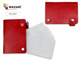 Визитница  FAN, 11 х 7.5 см, 10 отделений для карт и  2 отделения для  сим-карт, на кнопке, M-4347