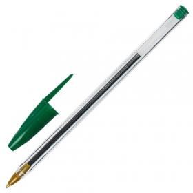Ручка шариковая STAFF BP-01, письмо 750 метров, ЗЕЛЕНАЯ, длина корпуса 14 см, 1 мм, 143739