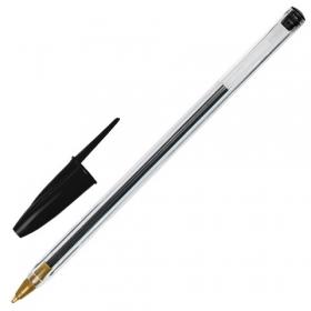 Ручка шариковая STAFF BP-01, письмо 750 метров, ЧЕРНАЯ, длина корпуса 14 см, 1 мм, 143737
