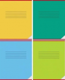 Тетрадь КЛЕТКА 12л. КЛАССИКА (12-0667), цвет.мелов.обл. однотонная, 3 дизайна в коробке