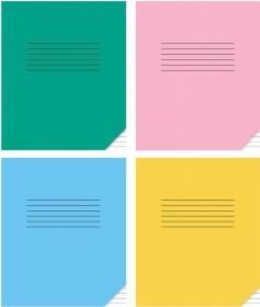 Тетрадь ЛИНИЯ 12л. КЛАССИКА (12-0668), цвет.мелов.обл., 3 дизайна в коробке