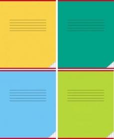 Тетрадь КРУПНАЯ КЛЕТКА 12л. КЛАССИКА (12-0670), цвет.мелов.обл. однотонная, 3 дизайна в коробке