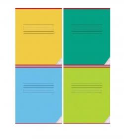 Тетрадь КОСАЯ ЛИНИЯ 12л. КЛАССИКА (12-0820), цвет.мелов.обл. однотонная, 3 дизайна в коробке