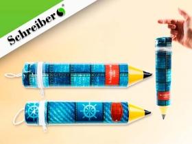 """Пенал-""""карандаш"""" пластиковый ДЖИНС d=5 см S 1822"""