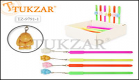 Ручка шариковая с подвеской Кролик, микс (флуоресцентный желтый, салатовый, оранжевый) TZ 9801-1