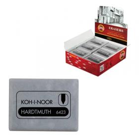 Ластик-клячка KOH-I-NOOR прямоуг., 47x36x10 мм, серый, супер мягкий, 6423018004KD, 225388