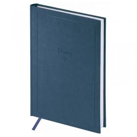 "Ежедневник недатир. A5, 136л., кожзам, OfficeSpace ""Brilliance"", синий En5_25177"