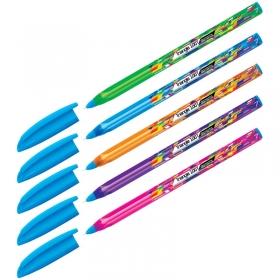 """Ручка шариковая Berlingo """"Triangle 100T Elements"""", синяя, 0,7мм, трехгран., игольчатый стержень CBp_"""