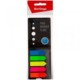 Флажки-закладки Berlingo, 42*12мм, стрелки, 25л*5 неоновых цветов, в картонной книжке, европодвес LS