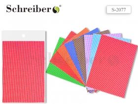 Ткань самоклеящаяся, А4 (21х30 см), КЛЕТКА, цвета в ассортименте, ЦЕНА за 1 ЛИСТ S 2077