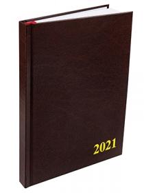 Ежедневник датированный 2020 А5, 168л. бумвинил КОРИЧНЕВЫЙ (168-1528)