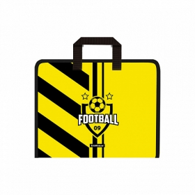 Папка на молнии пластиковая с ручками ErichKrause® Football Time, A4+ (в пакете по 4 шт.) 48705